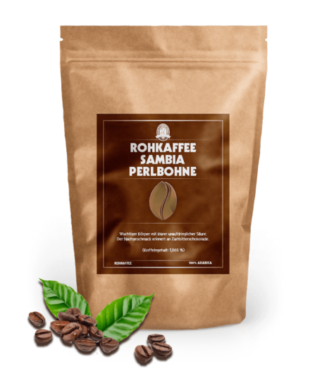 Rohkaffee Sambia Perlbohne